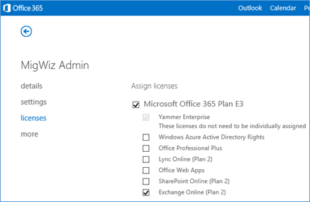 Setting Permissions for Migrating to Office 365 via
